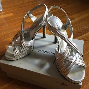 bb8eaf9a2fed Silver Peeptoe Slingback Size 8.5 Heels